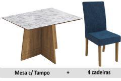 Sala De Jantar Kappesberg Mesa Lótus + 4 Cadeiras CAD131