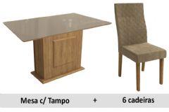 Sala De Jantar Kappesberg Mesa Acerola + 6 Cadeiras CAD132
