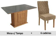 Sala De Jantar Kappesberg Mesa Acerola + 6 Cadeiras CAD130