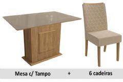 Sala De Jantar Kappesberg Mesa Cidra + 6 Cadeiras CAD129