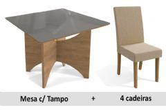 Sala De Jantar Kappesberg Mesa Camomila + 4 Cadeiras CAD131