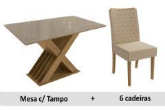 Sala De Jantar Kappesberg Mesa Graviola + 6 Cadeiras CAD129