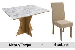 Sala De Jantar Kappesberg Mesa Figueira + 4 Cadeiras CAD131