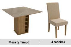 Sala De Jantar Kappesberg Mesa Camélia + 4 Cadeiras CAD131