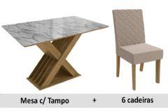 Sala De Jantar Kappesberg Mesa Graviola + 6 Cadeiras CAD133