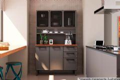 Kit Cozinha Triplo Bertolini Estilo 7146 Aço Triplo 6 Portas 120cm