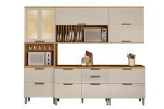 Cozinha Completa Nesher Duquesa de Madeira c/ 5 Peças (1 Paneleiro +2 Armários+2 Gabinetes)