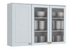 Armário de Cozinha Modulado Henn Americana 3 Portas de Vidro 120cm