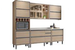 Cozinha Completa Thela/Telasul Canela Madeira 22 5 Peças