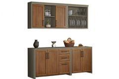Cozinha Compacta Nesher Camponesa 4 Peças (2 Armários+2 Gabinetes) CZ26