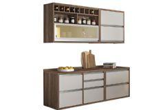 Cozinha Compacta Nesher Baronesa 4 Peças (2 Aéreos + 2 Gabinetes) CZ36