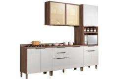 Cozinha Compacta Nesher Donna 4 Peças (Paneleiro + Aéreo + 2 Gabinetes) CZ38