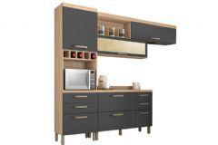 Cozinha Nesher Condessa 3 Peças (Paneleiro+Aéreo+Balcão) CZ40