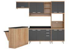 Cozinha Completa Modulada Multimóveis Sicília 5844 5 Peças