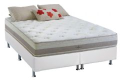 Conjunto Box-Colchão Herval Pocket Alpes+Cama Box Bianco