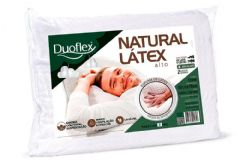 Travesseiro Duoflex Natural Látex Alto LN1100 Fronha 50x70
