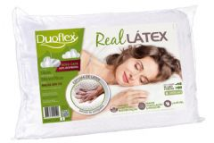 Travesseiro Duoflex Real Látex LS1104 p/ Fronha 50x70