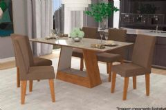 Sala de Jantar Cimol Mesa Alana 180cm + 6 Cadeiras Milena