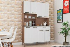Kit de Cozinha Ronipa Tannat Gold c/ 8 Portas e 1 Gaveta