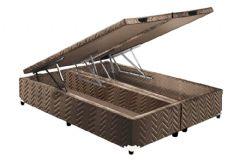 Cama Box Baú Universal CRC Fort Brown Rústico 020