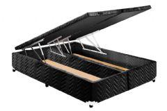 Cama Box Baú Universal CRC Rústico Fort Black 020
