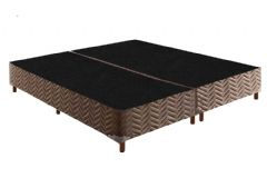 Cama Box Base Paropas Universal Tecido Fort Marrom 020