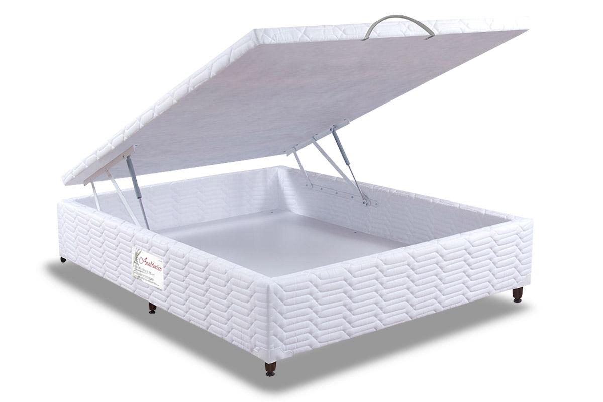 5aa2814d3 Cama Box Baú Paropas Tecido Branco até 40% OFF - Filhao.com