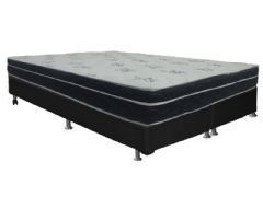 Conjunto Box - Colchão Ortobom de Molas Bonnel Nanolastic Physical  + Cama Box Universal Black - Ortobom